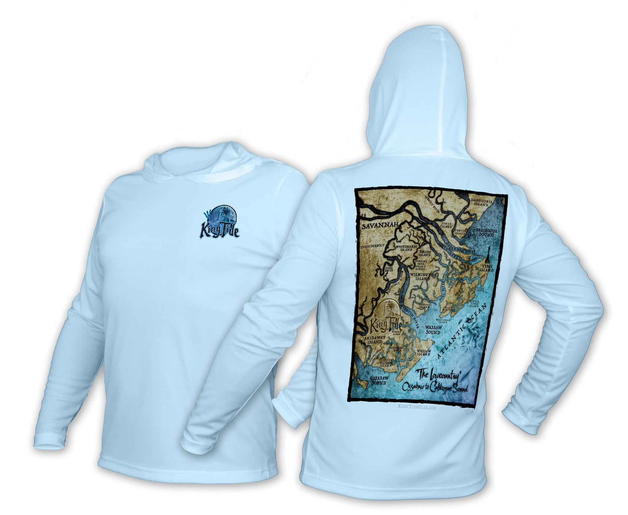 King Tide Savannah Georgia Chart Hoodie