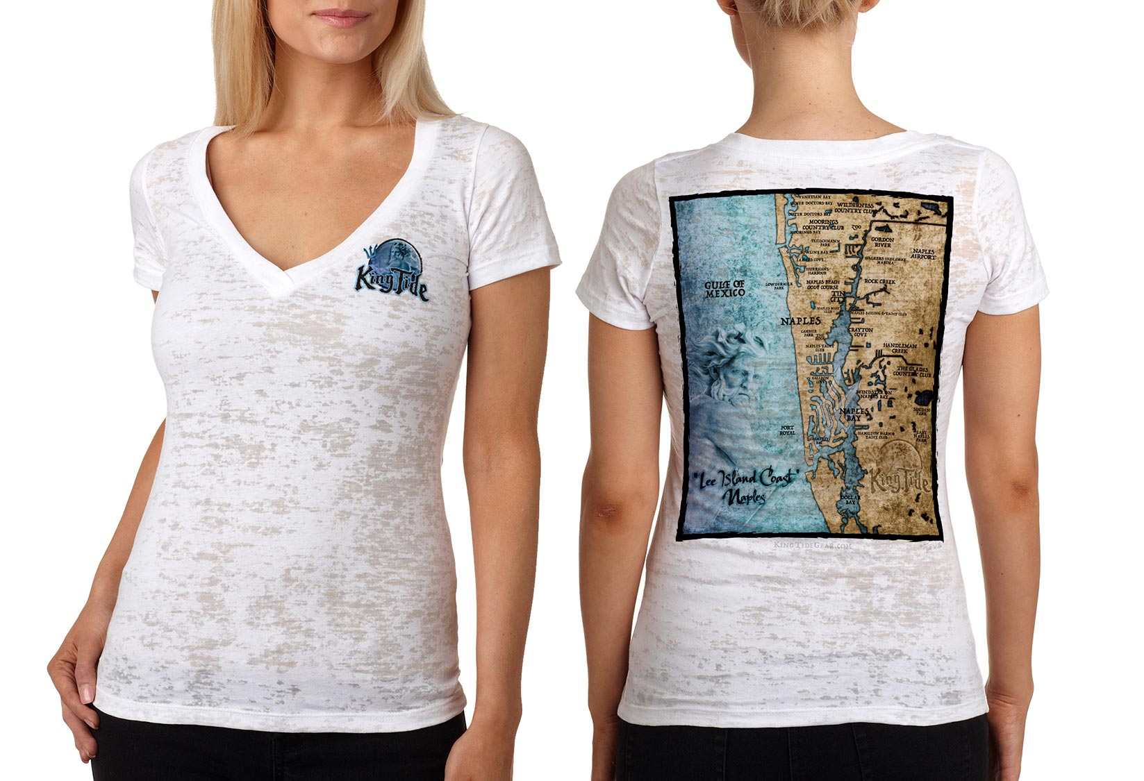 King Tide Naples Florida V Neck Burnout