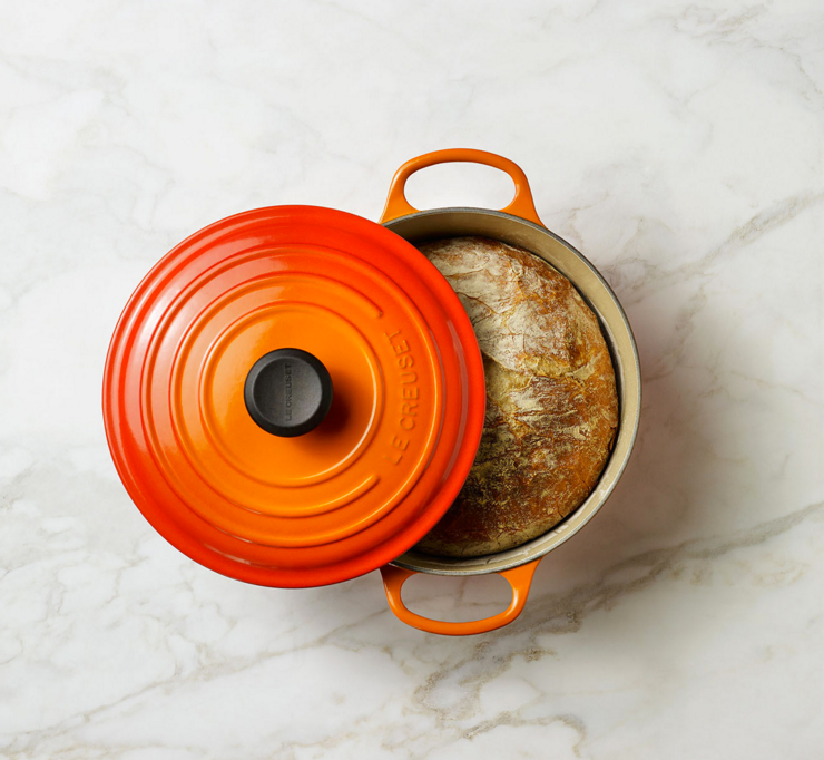 Le Creuset cookware.