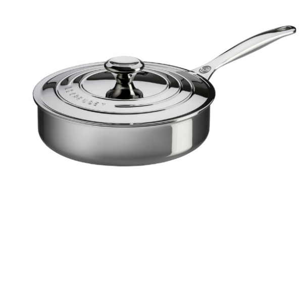 Le Creuset Stainless Steel 3 qt. Saute Pan With Lid