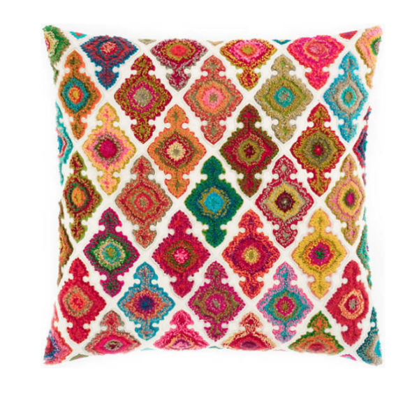 Kulu Embroidered Bright Pillow 22""