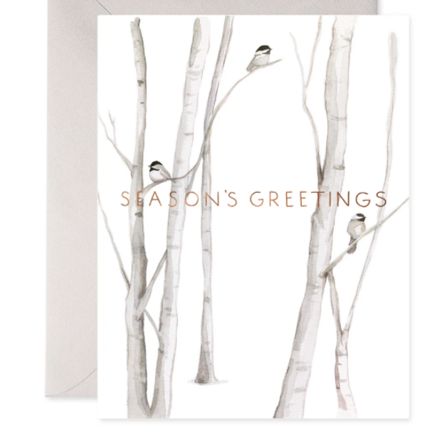 Snowy Birches- 6-Pack Notecards