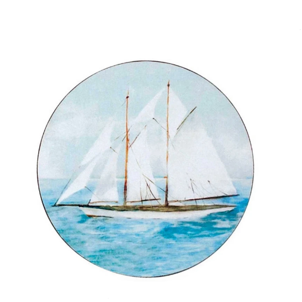 Summer Sail Round Art Coaster
