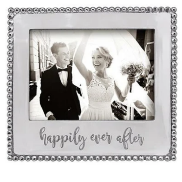 HAPPILY EVER AFTER 5x7 Beaded Frame