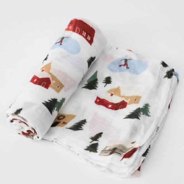 Winter Vintage Deluxe Muslin Swaddle Blanket