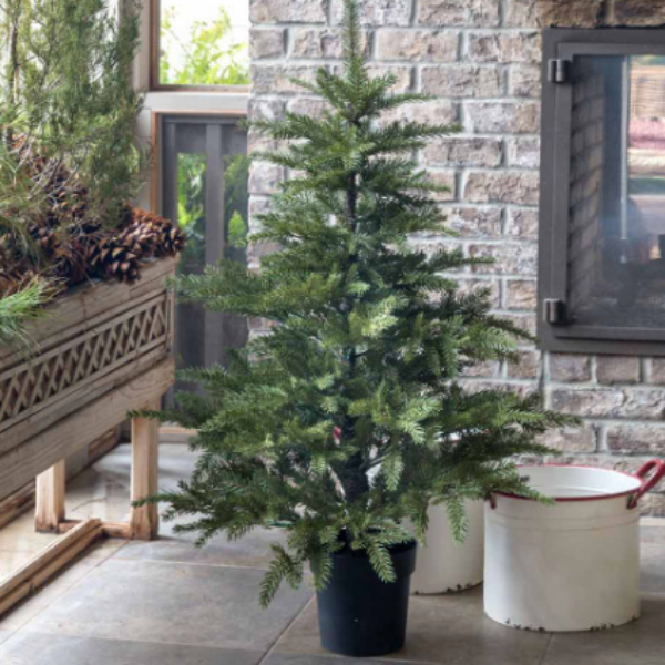 Potted Faux Fir Tree