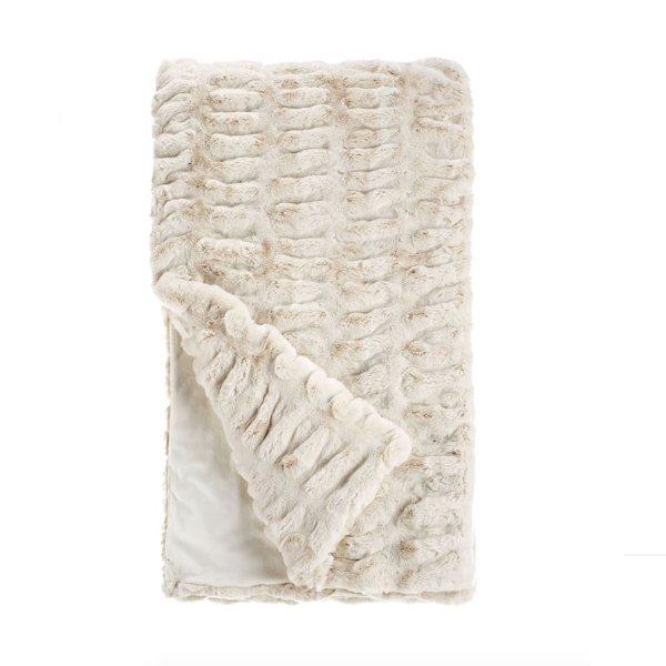 Ivory Mink Couture Throw