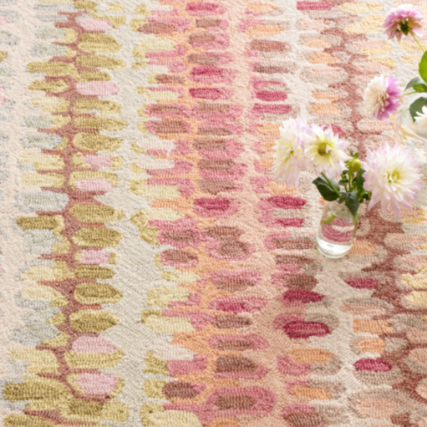 Paint Chip Pastel Micro Hooked Rug