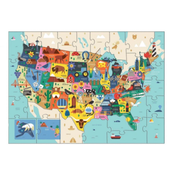 Map of The U.S.A - 70 Piece Puzzle