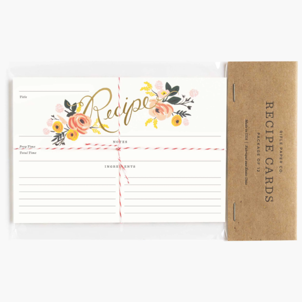 rifle paper recipe cards