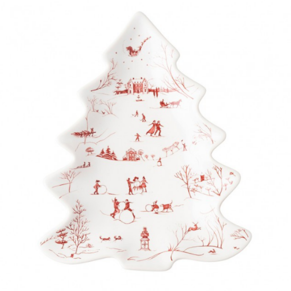 Country Estate Winter Frolic Small Tree Tray