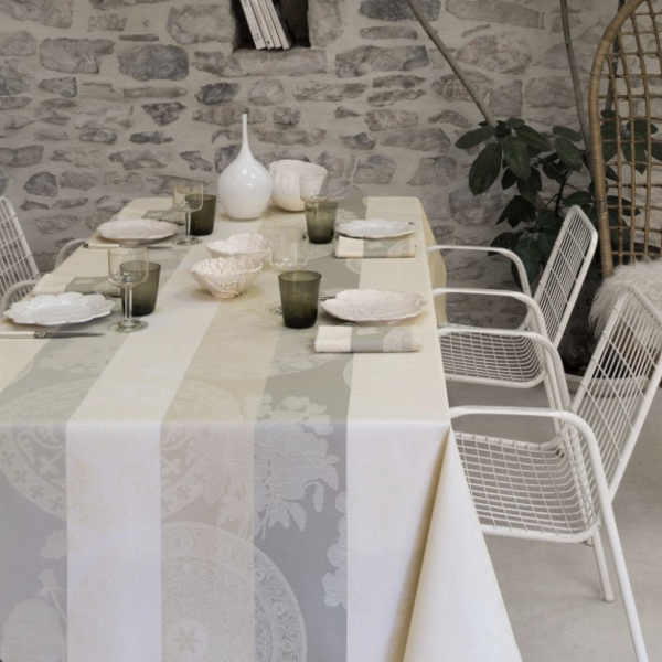 Fleur Gourmandes Chalk Coated Table Linens