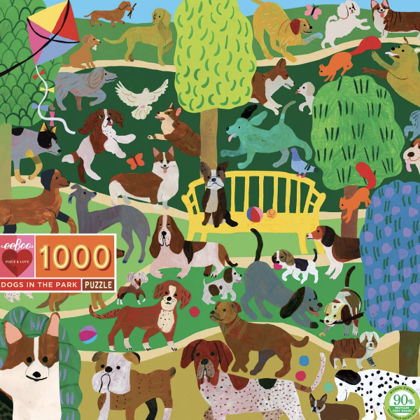 Dogs In the Park 1000-Piece Puzzle