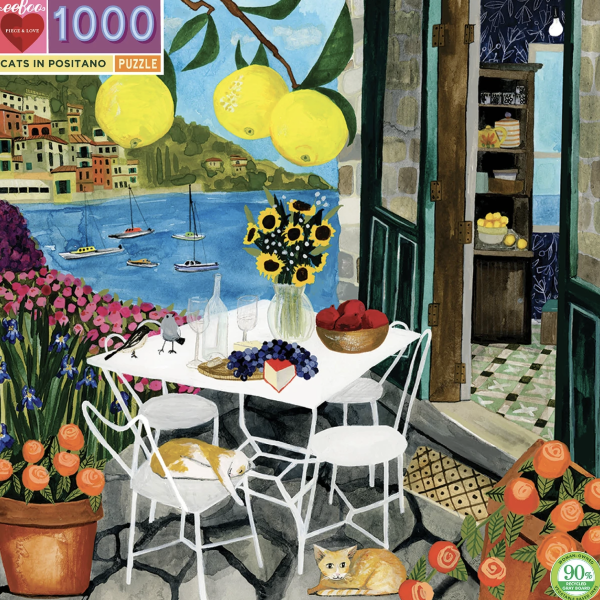 Cats In Positano 1000-Piece Puzzle