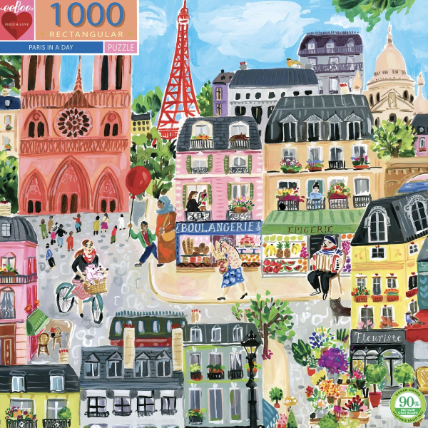 Paris In a Day 1000-Piece Puzzle
