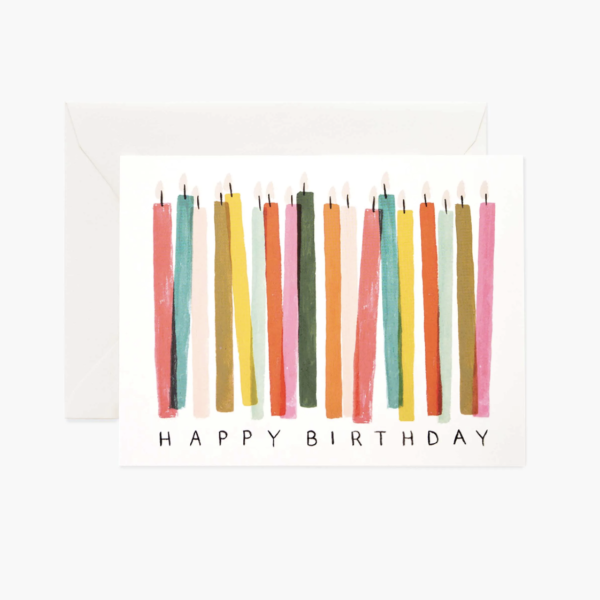 rifle paper birthday candles card