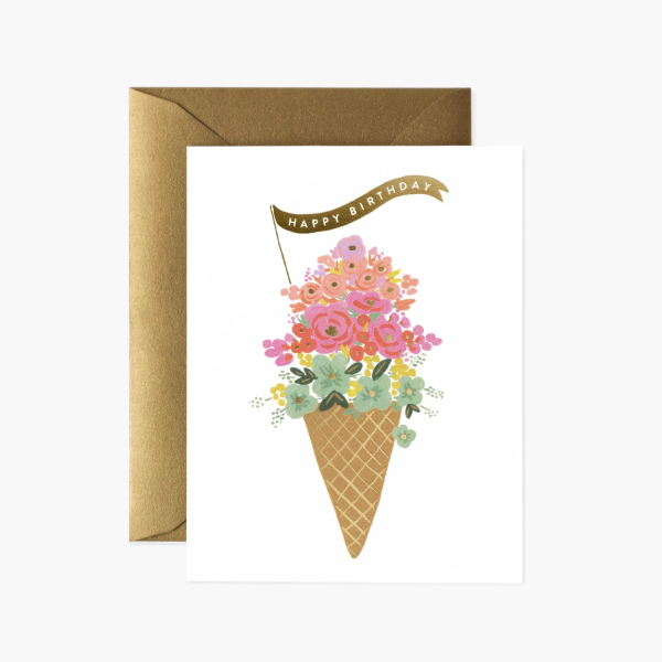 rifle paper birthday ice cream card