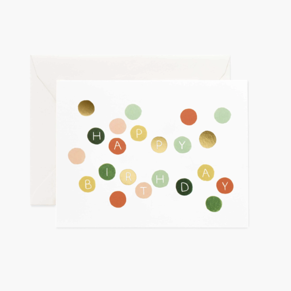rifle paper birthday dots card