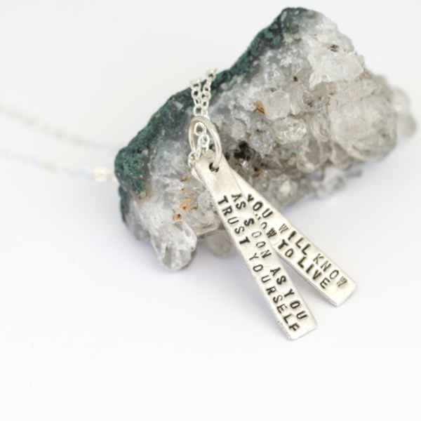Goethe Quote Necklace