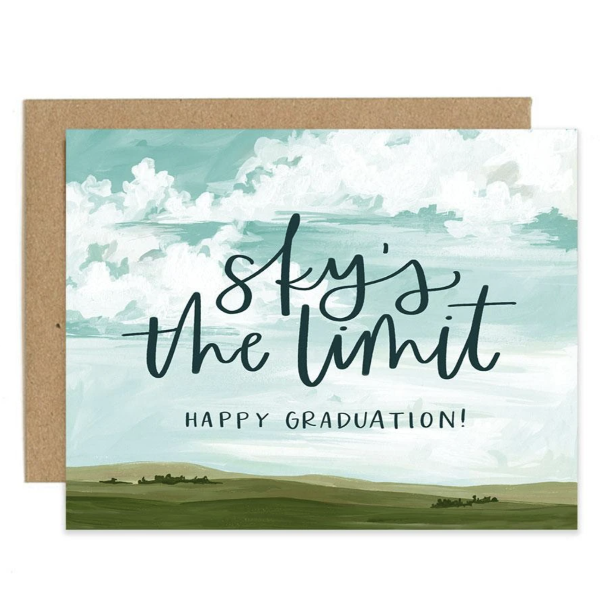 sky's the limit graduation card