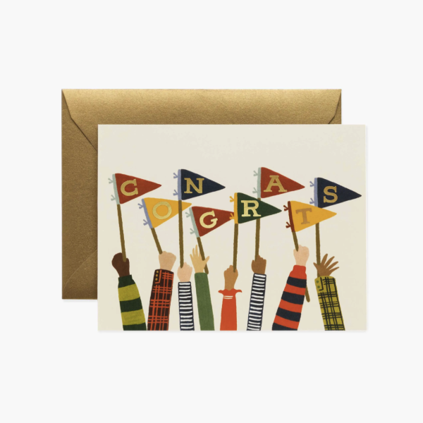 Rifle Paper Congrats Card