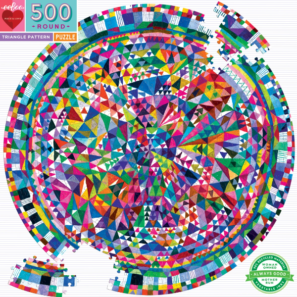 Triangle Pattern 500-Piece Round Puzzle
