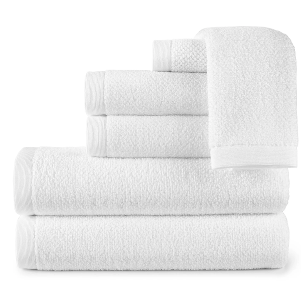 Jubilee White Bath Towels