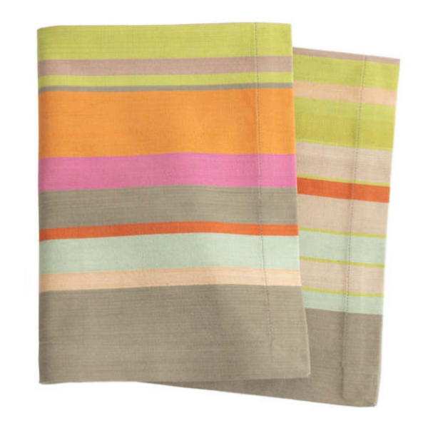 Stone Soup Striped Napkins Set/4
