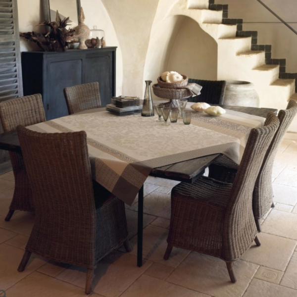 Provence Beige Coated Table Linens