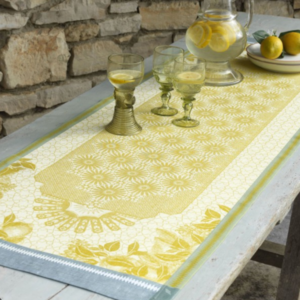 Jardin d' Orient Yellow Table Linens