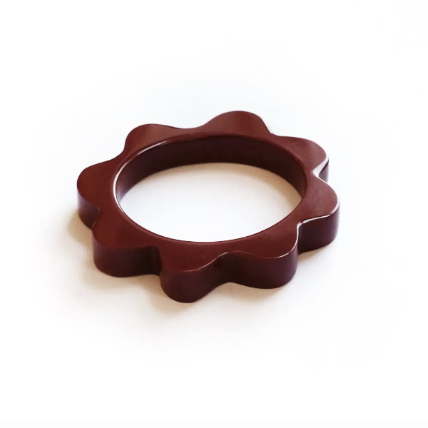 Dark Rust Splat Bangle