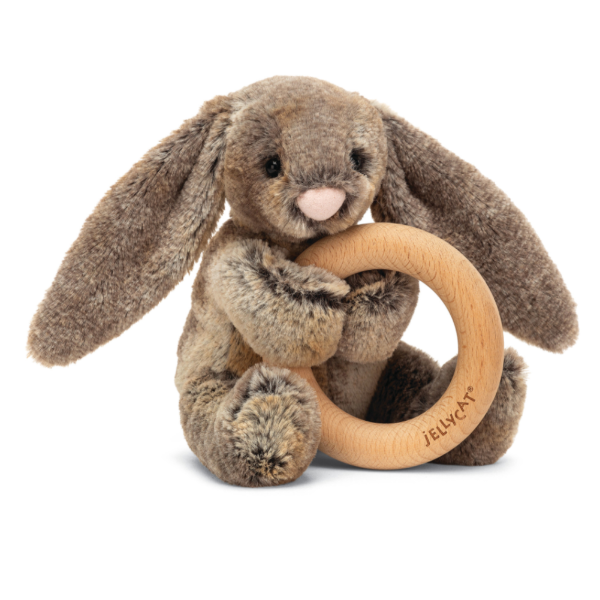 Woodland Bunny Wooden Ring Rattle