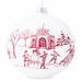 Country Estate Winter Frolic Ruby Glass Ornament - 2020 Limited Edition