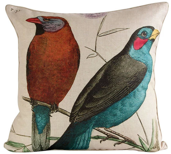 Two Birds on Branch Pillow