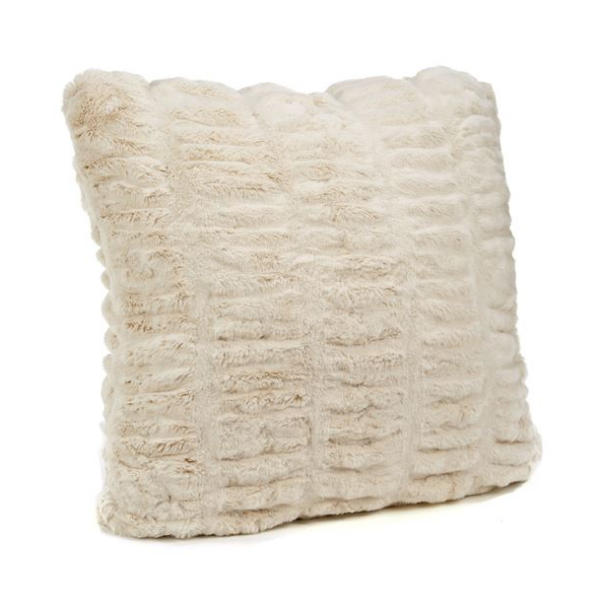 Ivory Mink Couture Pillow