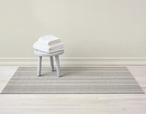 Chilewich Skinny Stripe Shag Mat: Birch