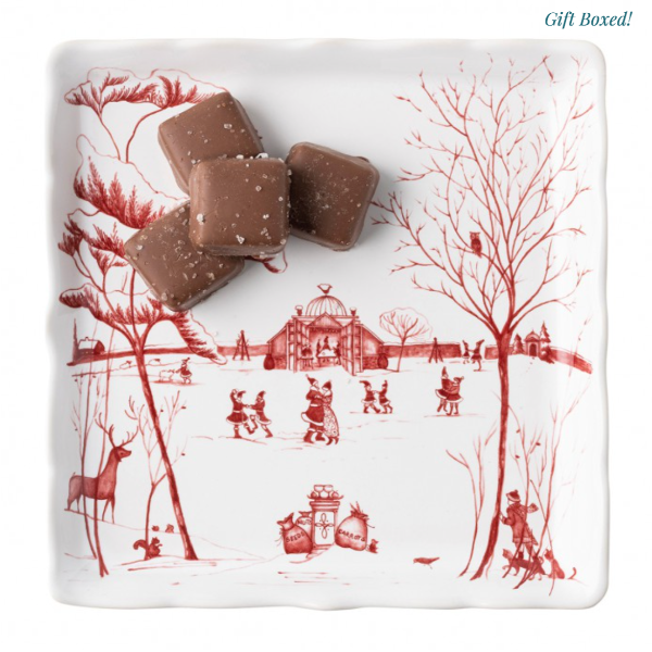 Country Estate Winter Frolic Sweets Tray - Mr. & Mrs. Claus