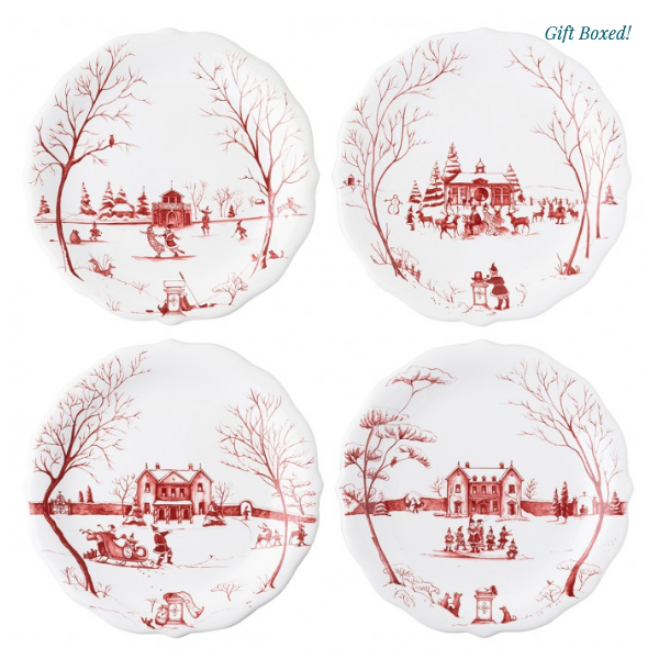 Country Estate Claus Party Plate Set/4
