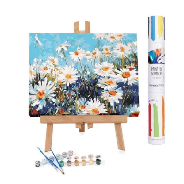 Field of Daisies: Paint By Number