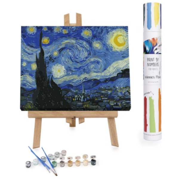Starry Night- Vincent Van Gogh: Paint By Number