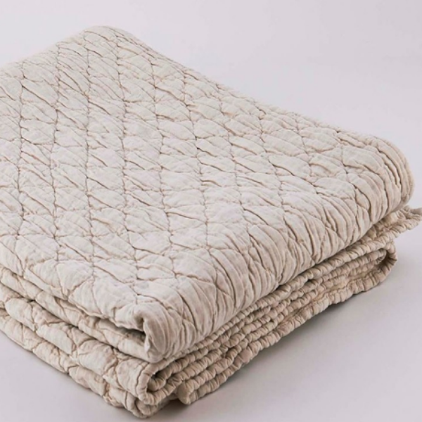 Louisa Quilted Bedding - Linen