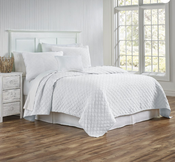 Louisa Quilted Bedding - White
