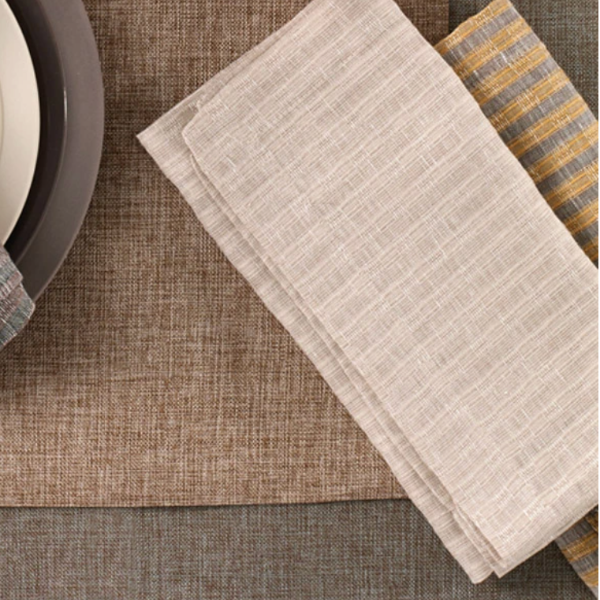 Basket Weave Set/4 Oatmeal Napkins