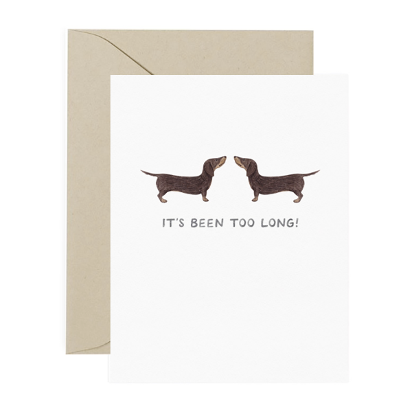 Too Long Dachshund Boxed Notes
