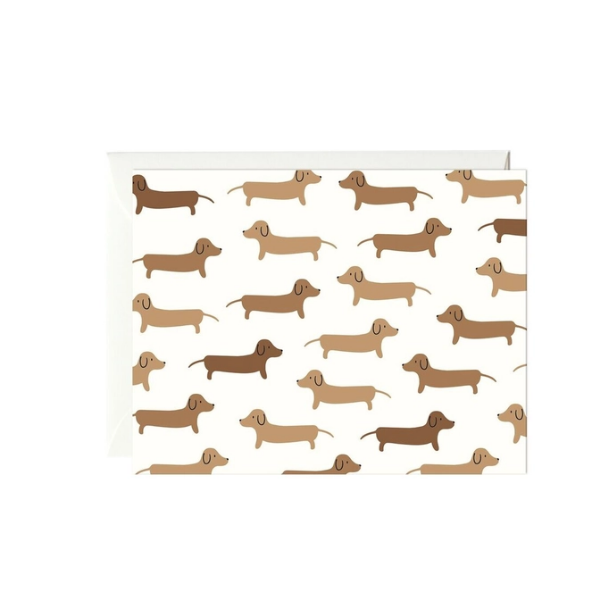 Dachshunds Card- Box of 6