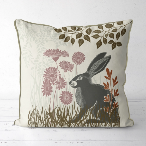 Country Lane 3, Hare Pillow