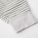 Cotton Muslin Baby Romper- Grey Stripes