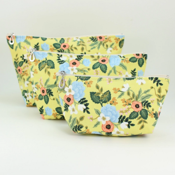 The Makeup Bag Set- Butter Floral