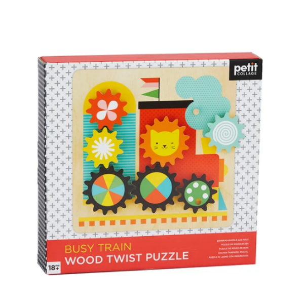 Busy Train Wooden Twist Puzzle