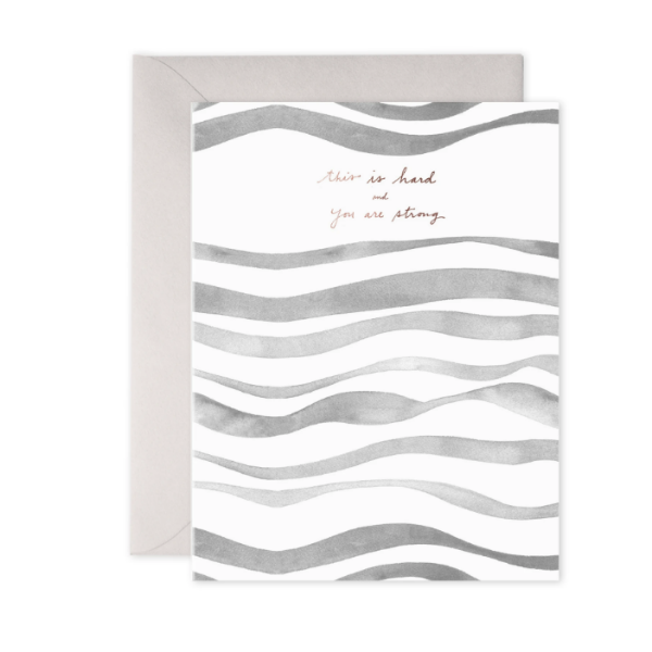 Grey Waves Card
